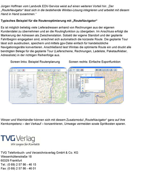 TVG Verlag Onlineshop | Winitas-Windows für Winzer